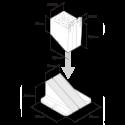 Buzon PB-01 terrasdrager 28-42mm hoog