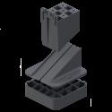 hellingcorrector 0 tot 5 procent 12 mm hoog